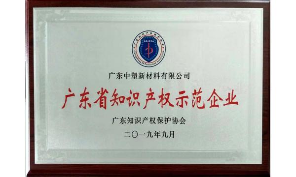 """喜讯!中塑获""""广东省知识产权示范企业""""荣誉称号"""