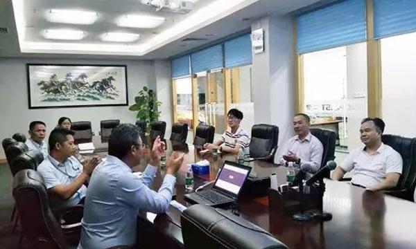 东莞市高新技术产业协会长安分会江新红会长一行莅临中塑参观考察